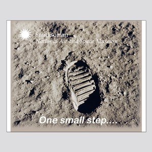 Apollo 11 Bootprint Small Poster