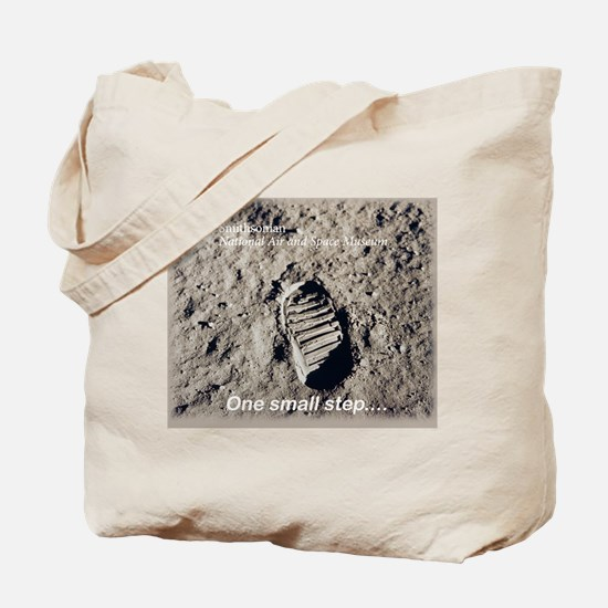Apollo 11 Bootprint Tote Bag