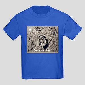 Apollo 11 Bootprint Kids Dark T-Shirt