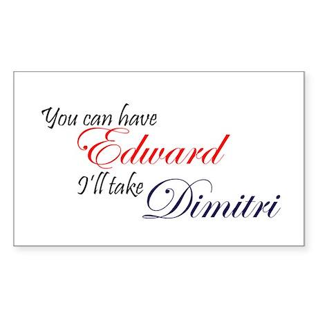 Edward/Dimitri Rectangle Sticker