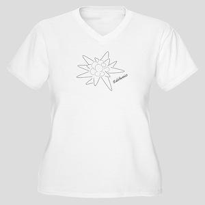 Edelweiss Women's Plus Size V-Neck T-Shirt