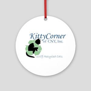 Kitty Corner Ornament (Round)