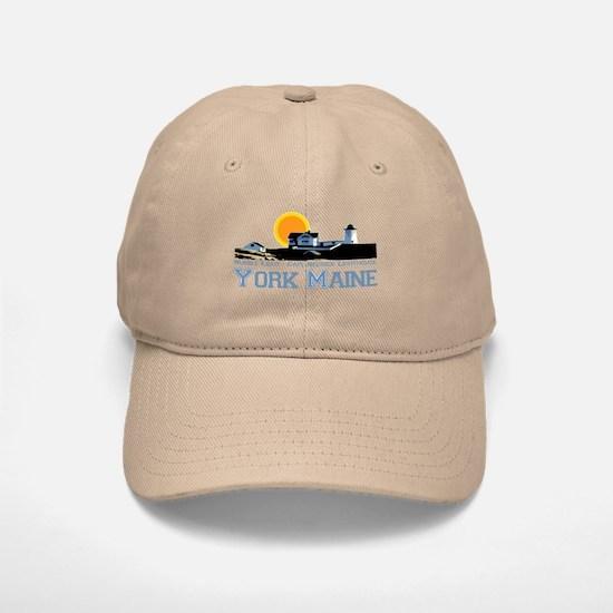 York, Maine Baseball Baseball Cap