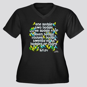 Budgies!! Women's Plus Size V-Neck Dark T-Shirt