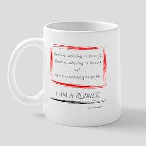 I am a runner slogan #2 Mug