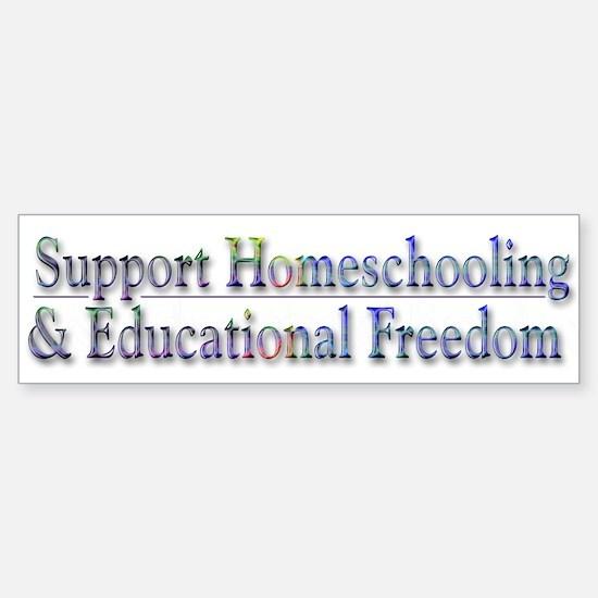 Support Homeschooling ~ Bumper Bumper Sticker