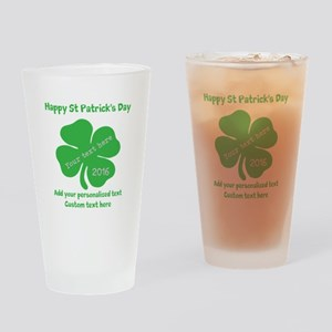 St Patricks Day Personalized Drinking Glass