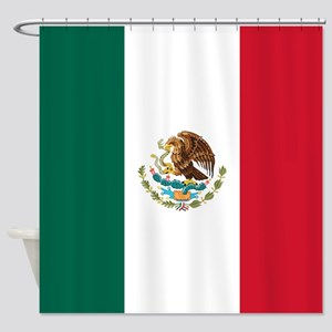 mexico-flag_sb Shower Curtain