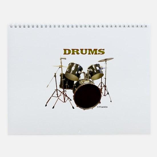 Drums Wall Calendar