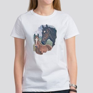 mare and colt portrait Women's T-Shirt