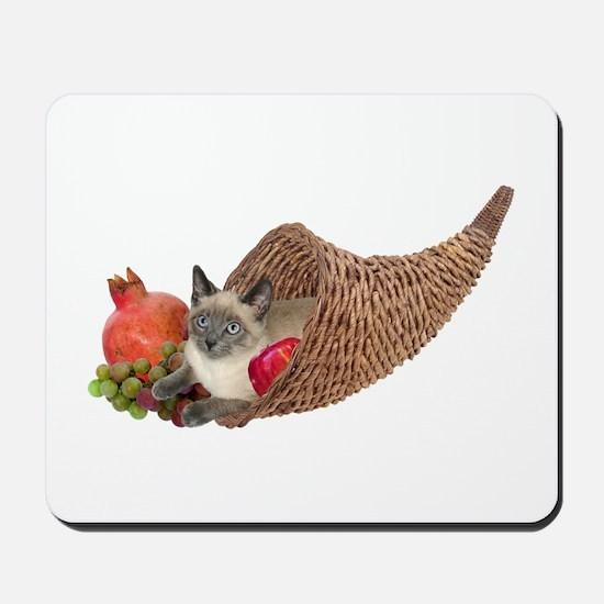 Cat in Cornucopia Mousepad
