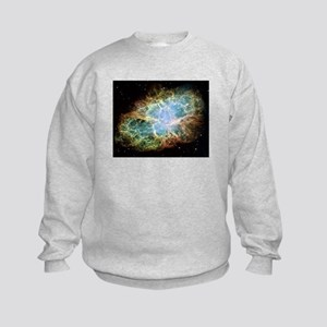 Crab Nebula Kids Sweatshirt