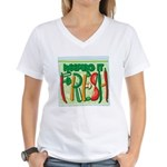 Keeping It Fresh Women's V-Neck T-Shirt