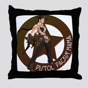 Pistol Packin' Mama Throw Pillow