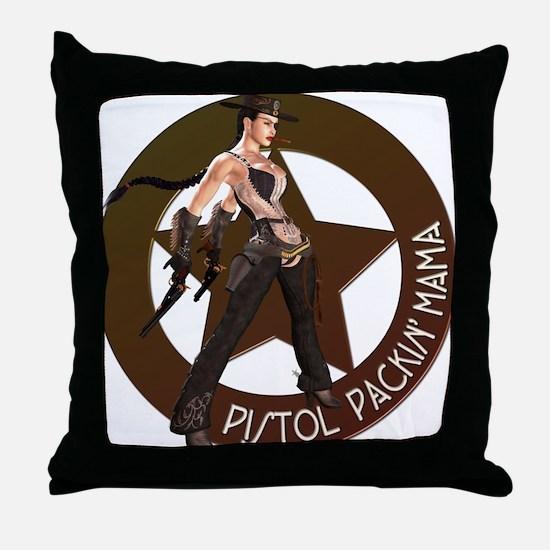 Pistol Packin' Mama Throw Pillow
