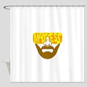 Madness sunglasses Shower Curtain