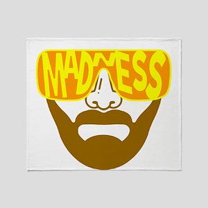 Madness sunglasses Throw Blanket