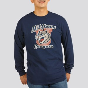 Milftown Cougars Long Sleeve Dark T-Shirt