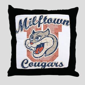 Milftown Cougars Throw Pillow