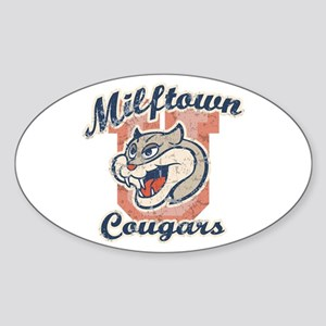 Milftown Cougars Oval Sticker