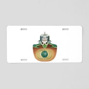 Space Brains - Science Fict Aluminum License Plate