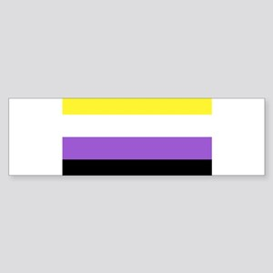 Non-Binary Flag,non-Binary,non bina Bumper Sticker