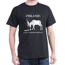 Land Of Moose And Booze Dark T-Shirt