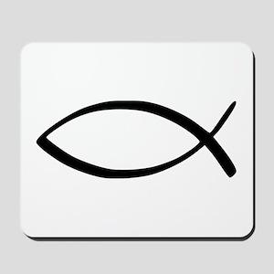 Jesus Fish Mousepad