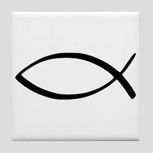 Jesus Fish Tile Coaster