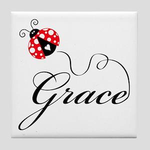 Ladybug Grace Tile Coaster