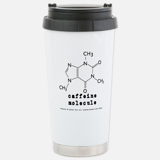 Caffeine Molecule Stainless Steel Travel Mug