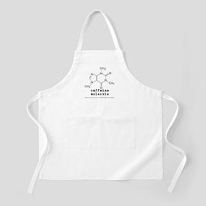 Caffeine Molecule BBQ Apron