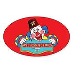 Proud Shriner Clown Sticker Oval Sticker