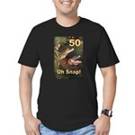 50, Oh Snap Men's Fitted T-Shirt (dark)