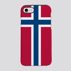 Norwegian Flag iPhone 7 Tough Case