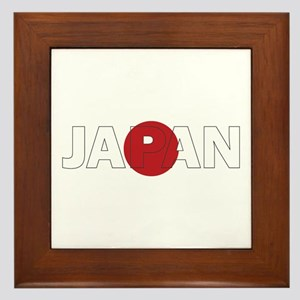 Japan Rising Sun Framed Tile