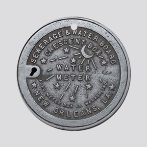 Water Meter Lid Ornament (Round)