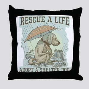Adopt a Shelter Dog Throw Pillow