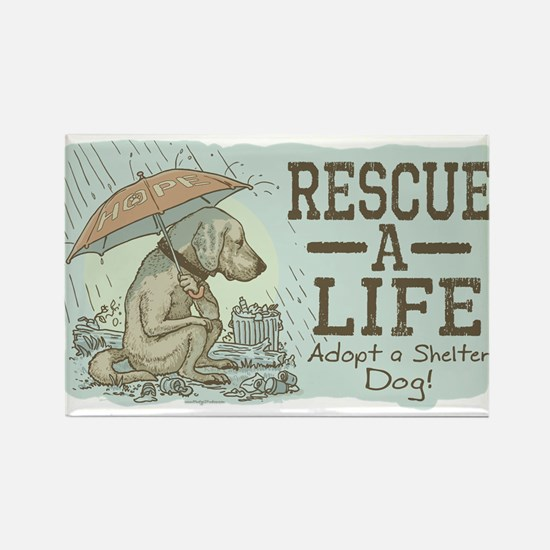 Adopt a Shelter Dog Rectangle Magnet