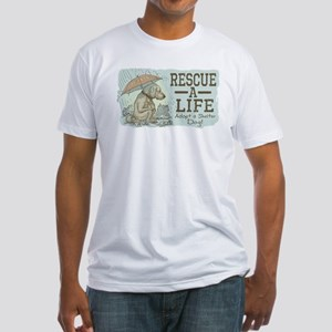 Adopt a Shelter Dog Fitted T-Shirt