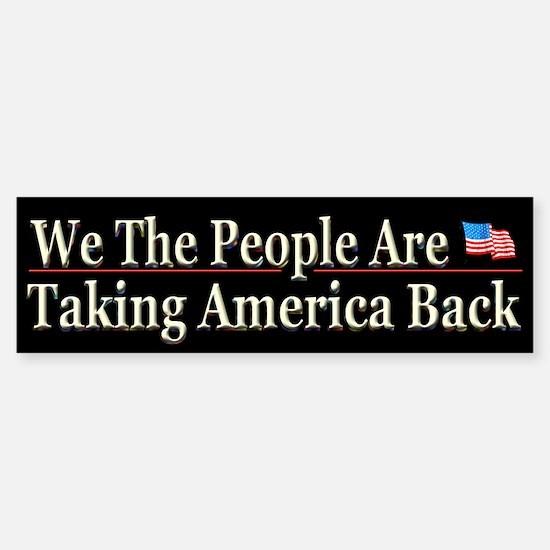 Taking America Back - Bumper Bumper Sticker