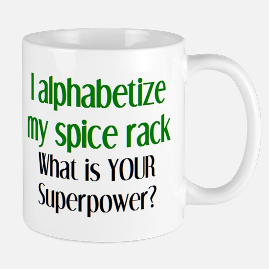 alphabetize spice rack Mug
