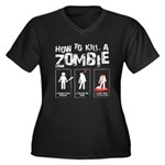How 2 kill a zombie, Women's + Size Dark T-Shirt
