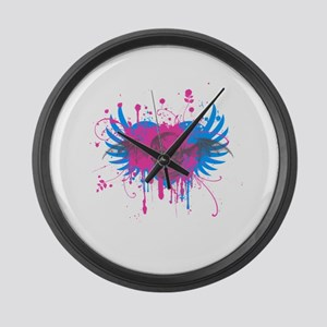 Splatter Skull Large Wall Clock