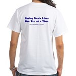 Male Breast Cancer White T-Shirt
