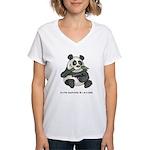 Panda Eats Shoots & Leaves Women's V-Neck T-Shirt