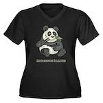 Panda Eats Shoots & Leaves Women's Plus Size V-Nec