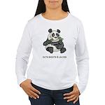 Panda Eats Shoots & Leaves Women's Long Sleeve T-S