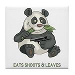 Panda Eats Shoots & Leaves Tile Coaster