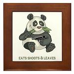 Panda Eats Shoots & Leaves Framed Tile